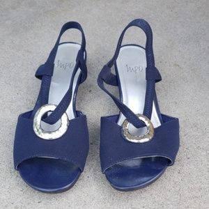 Navy blue sandles